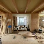 photo:2世帯住宅 下地工事